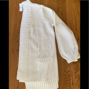 NWT Loft Heavy Knit Open Cardigan